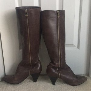 Michael Kors tall brown boots